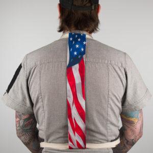 American Flag Apron Tie