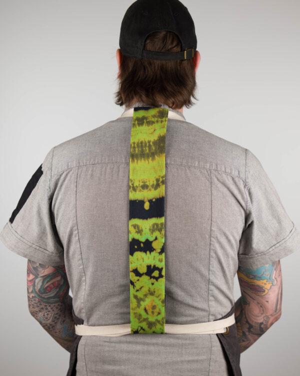 Green Tie-Dye Apron Tie