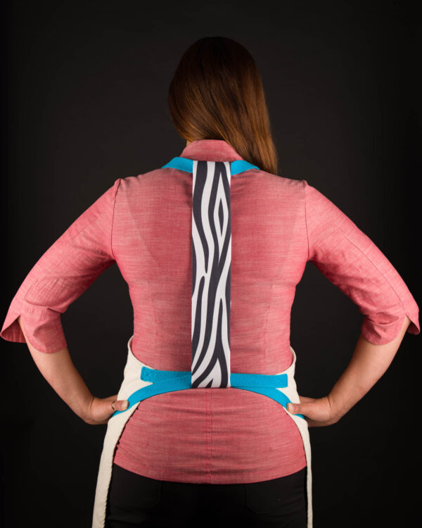 Zebra Print Apron Tie