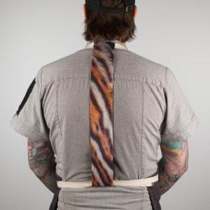 Tiger Print Apron Tie