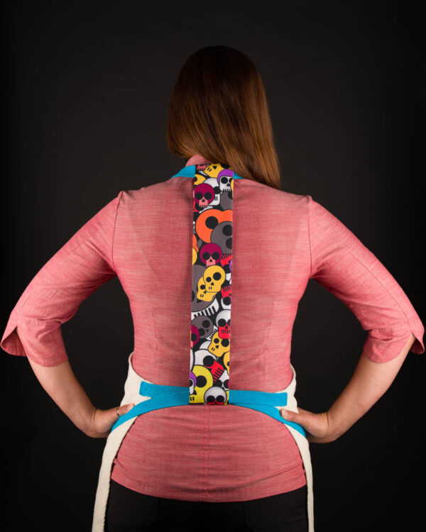 Colorful Skulls Apron Tie